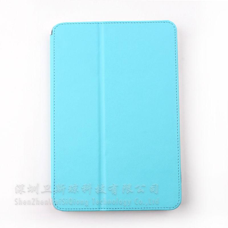 PU for ipad mini stand,Leather for ipad mini smart case