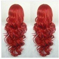 Шиньон beautiful! WINE RED LONG CURLY wig wigs 058