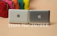 1pc Macbook Air Style Portable Mirror Apple Notebook Creative Make Up Mirror white Silver