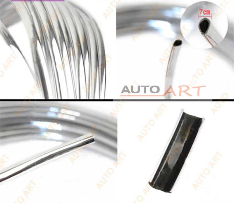 "Chrome Trim Strip Bumper Air Vent Grille Switch Rim Moulding /""U/"" Style 3mx6mm"