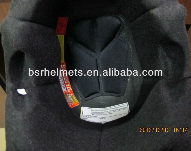 Auto Racing Helmet with FIA8858-2010 and SNELL SAH2010 Standard