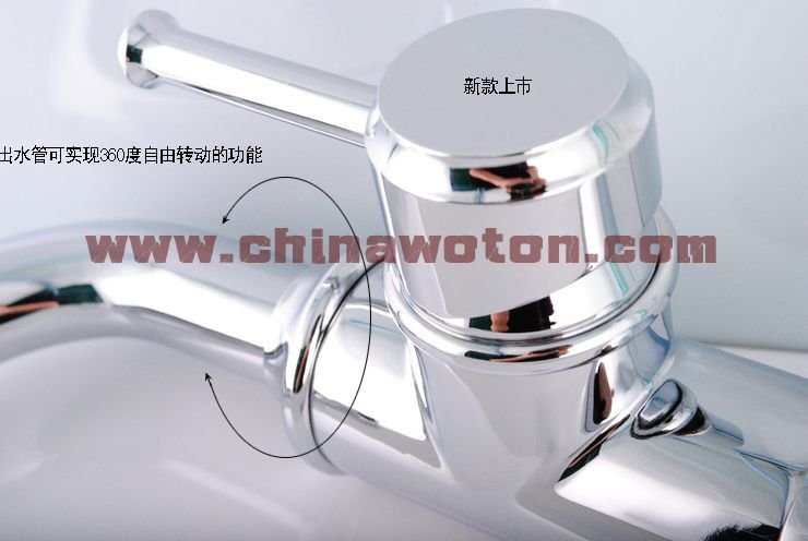 Free Shipping fashion chrome luxury single handle bathroom tall vessel sink faucet  61409