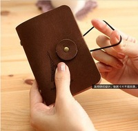 fashion Kroea velour leather tower style bank credit Card team holder bag case membership card bag  NO. AQ001 Free Shipping