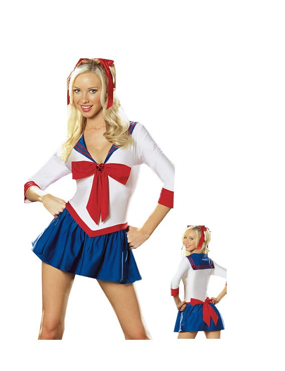 Sexy White&Blue Sailor Moon Costume Latest Style Sexy Lingerie Bustier ...