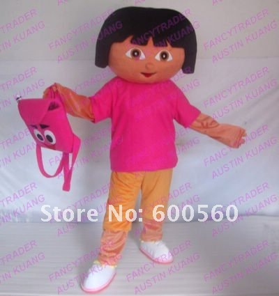 Wholesale High Quality Dora The Explorer Mascot Costume Hallween Costume Christmas Costume Free Shipping FT20086....jpg