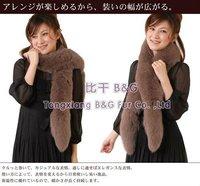 Женский шарф BG100838 2012 New Style Genuine Fox Fur Scarf Winter Lady Luxurious Warmer Wrap Handmade OEM /Retail