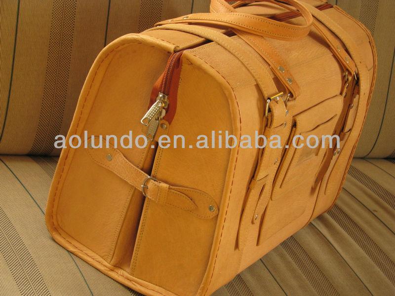 Saddle leather Travel Bag Genuine Leather Travel Bag luggage bag