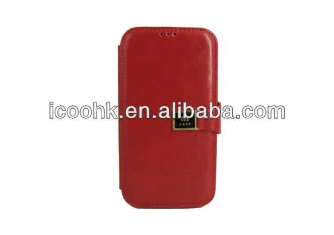 Genuine leather case for samsung s4, genuine mobile phone case