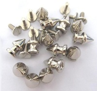 Клепки для одежды 100x 12mm Silver Cone Screwback rivets Spikes Studs Punk Biker Bag Bracelets Clothes Belt Shoe Bag