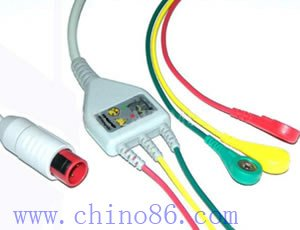 BIONET one piece three lead ECG cable and leadwire