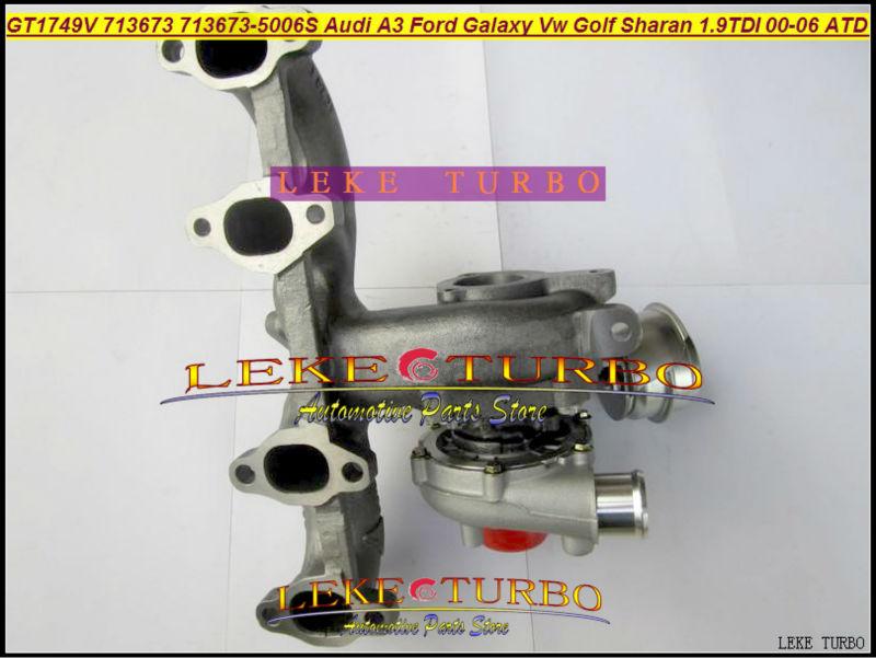 LEKE GT1749V 713673-5006S 713673 turbocharger turbo for Audi A3 Ford Galaxy VW Golf Sharan 1.9 TDI 2000-06 AUY AJM ASV ATD 1.9L 85KW Diesel 115HP (5)