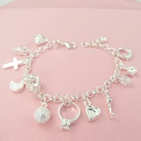 Браслет Fashion Jewelry Silver-Filled 13 Magic Charm Bracelet AB0037