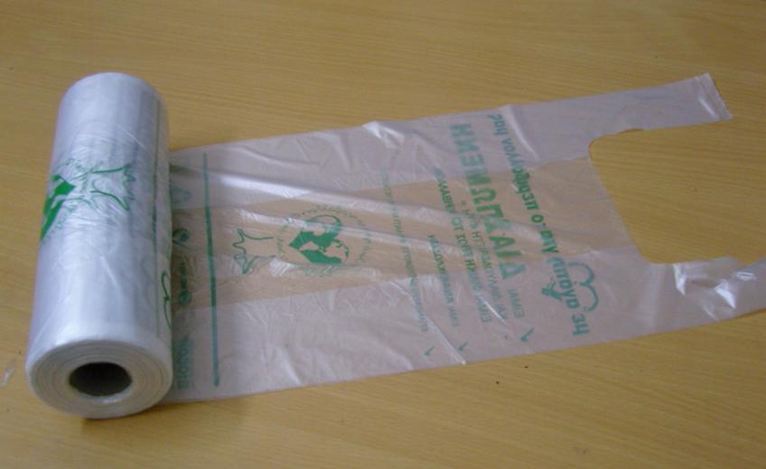 plastica hdpe materia prima vergine tshirt sacchetti in rotolo