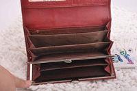 Real Leather Circular Metallic Ladies Wallet