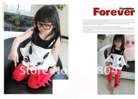 Футболка для девочки Summer Girl's Clothing Fox Cartoon Cotton Vest Loose Sleeveless T-shirt Christmas Sale
