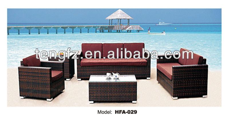 Beautiful design PE synthetical rattan furniture