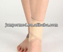 beige neoprene sportsmen elastic ankle support ankle brace