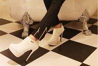 h020 ботинки лодыжки высокие каблуки моды обувь женщин обувь большой размер 34-43 Обувь дропшиппинг 40% выкл