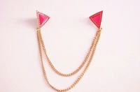 Брошь Fashion accessories triangle collar brooches with chains