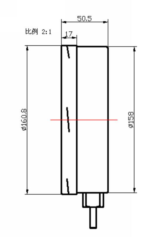 ( ye-- 160) 160mm الجبهة الفولاذ المقاوم للصدأ شفة ميليبار قياس الضغط المنخفض