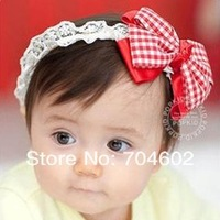 Детский аксессуар для волос MOQ 1 Set Double Satin Fabric flower With Pearl child headband princess hair accessory FDB54