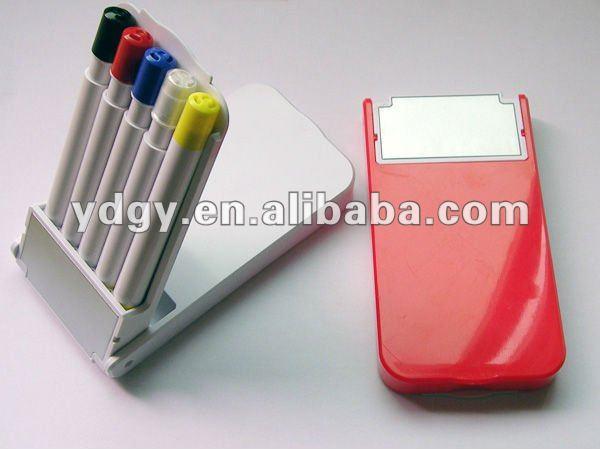 Five different plastic pens in a Fashion Box