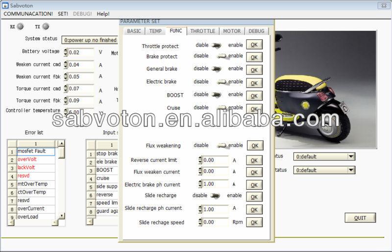 72V 6KW foc high power electric golf carts motor controller
