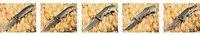Extrema Ratio - MF3 Camping Folding Knife ( Big size Ash titanium ) 56HRC 3Cr13 Free Shipping 210g