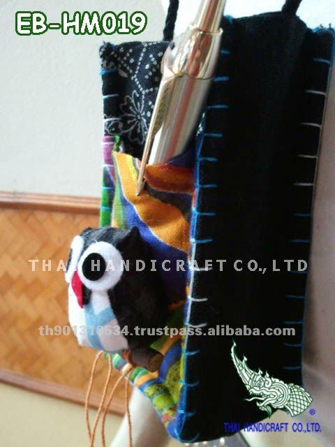 Thai Handmade Owl Call Phone bag Mobile bag