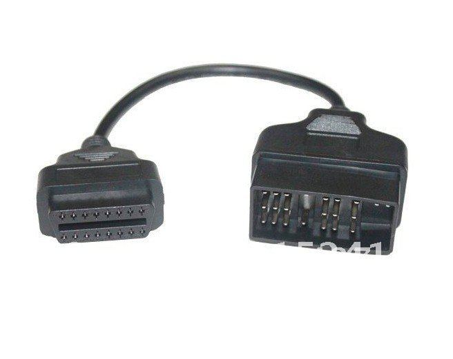 Good quality Newly TOYOTA 22pin to 16pin OBD1 to OBD2 Connect Cable free shipping