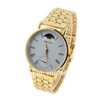 новые mingbo стали кварцевые часы для мужчин белый круглый циферблат wb120