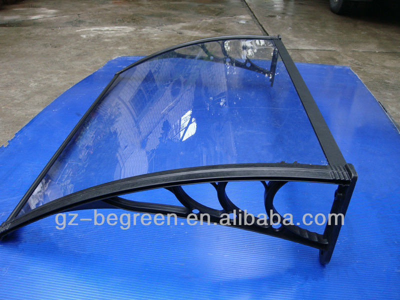Modern black aluminum bracket outdoor polycarbonate canopy, front door used awnings for sale