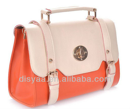 2013 New fashion bags ladies handbags, innovative design with metal parts