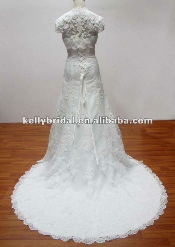 The latest design boat neckline elegant soft chiffon wedding dress with train 2013 new fashion