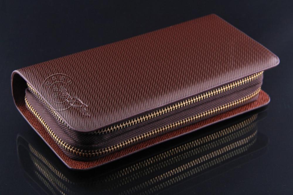 High-End мужской кожаный бумажник двойной тянуть двойным сцеплением марка мульти карты бит большой емкости для мужчин кошелек