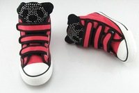 Кроссовки для мальчиков retail 2013 fashion children canvas shoes kids sneakers for boy and girl sport shoes rhinestones panda shoes TZ66481 Брезент
