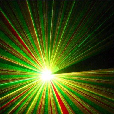 RGY three colour disco laser light