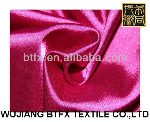 garment fabric/100% polyester stretch satin fabric