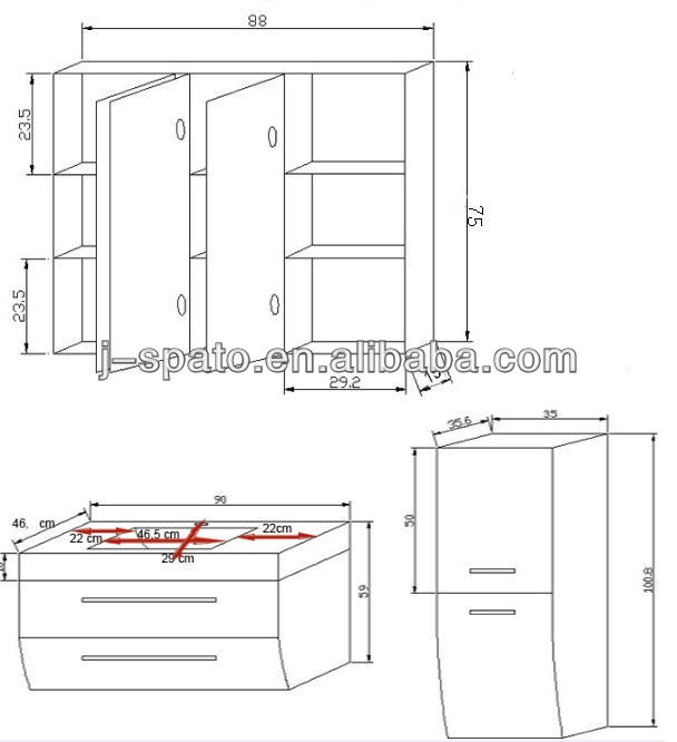 New Design HangZhou Luxury Bathroom Vanity Cabinet