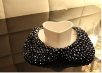Колье-ошейник Fashion Style Noble Handmade Crystal Black/White Collar NecklaceCG2900