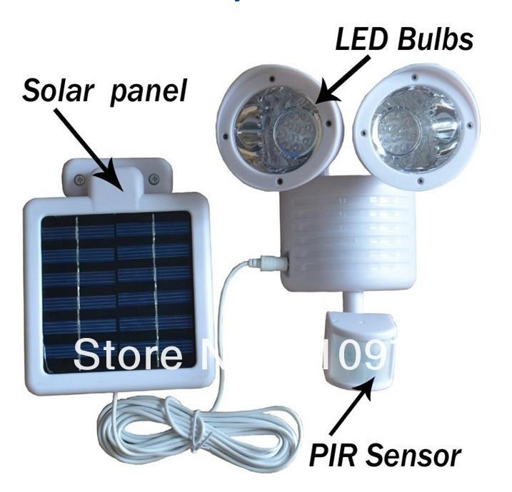 Светильник с 2 лампами на солнечной энергии
