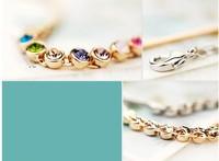 Браслет на ногу Korean jewelry Austrian Crystal Bracelets Anklets full Rhinestone gift for girls