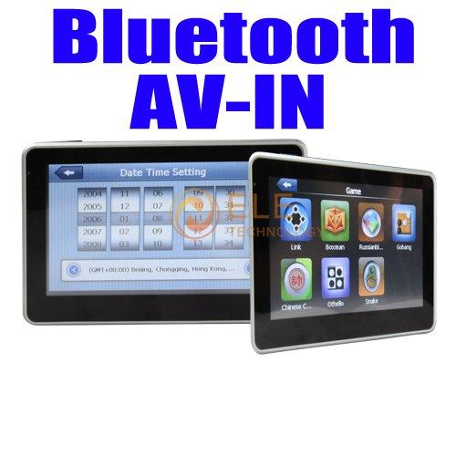 4.3 inch gps car camera  4GB TF memory Free Map gps with rear camera bluetooth