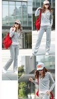 Женские толстовки и Кофты wholeasle fashion women sports wear jogging sets Velvet tracksuit outedoor clothes hoodies sweatshirt pants set