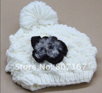 Женская шапка 3pc/lot HOT in 2012! -Z006 skull hat for women knitted cap snapback hat sports baseball beanie cap/hat