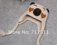 Шапка для мальчиков Retail+ 100% Handmade Children Crochet Hats Various Animal Styles Baby bear Beanie hat 3 colors Kids Caps