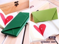 fashion colorful envelop very thin money clips, card clips,long wallet, free shipping, 5 pcs 1 lot