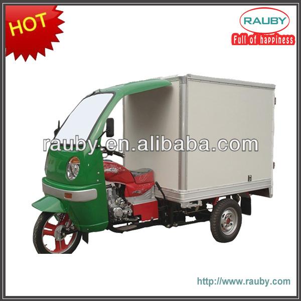 175cc gasoline cng cargo 3 wheel enclosed motorcycle/tricycle