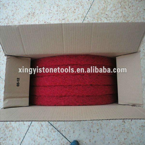 Red polishing mat
