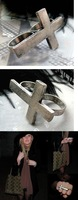 Кольцо 21A42 Fahion vintage Silver Cross Rings! cRYSTAL sHOP